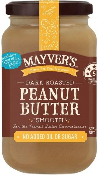 Mayvers Dark Roasted Peanut Butter Smooth 375g