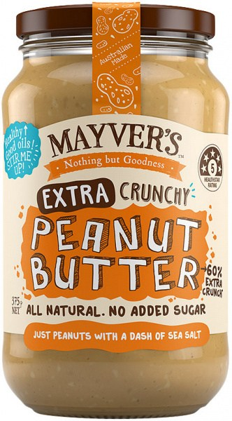 Mayvers Extra Crunchy Peanut Butter  375g