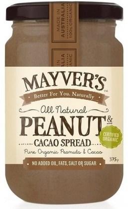 Mayvers Organic Peanut & Cacao Spread  375g