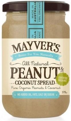 Mayvers Organic Peanut & Coconut Spread  375g