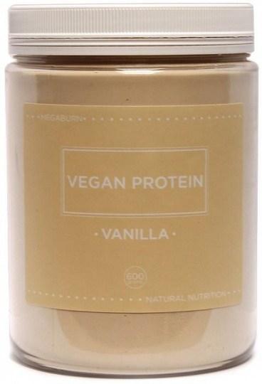 Megaburn Vegan Protein Vanilla Powder 600g