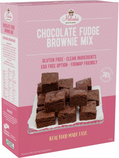 Melindas Choc Fudge Brownie  Pre-Mix 415gm