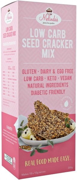 Melindas Low Carb Seed Cracker Mix  200g