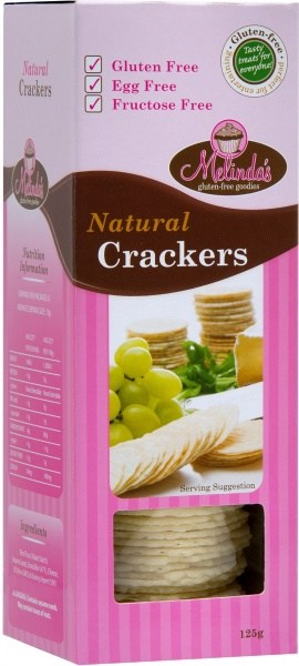 Melindas Natural Crackers  125g