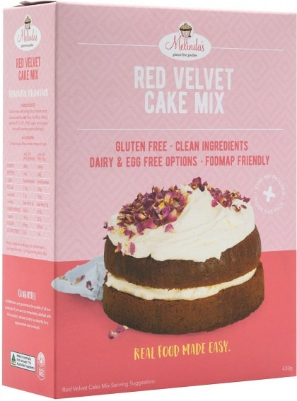 Melindas Red Velvet Cake Mix  430g