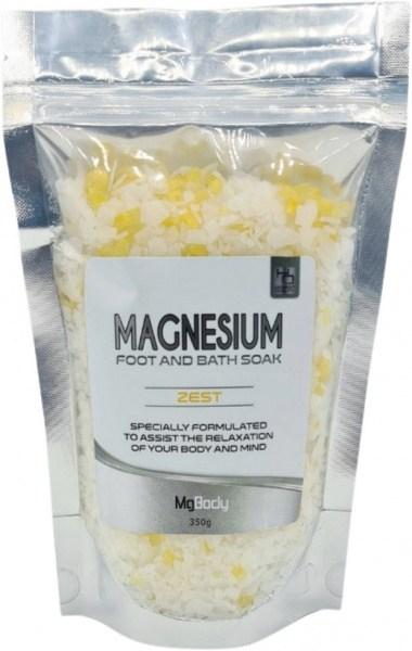 Mgbody Magnesium Foot & Bath Flakes Zest 350g