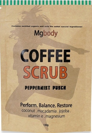 Mgbody Scrub Coffee+Magnesium+Coconut - Peppermint Punch 130g
