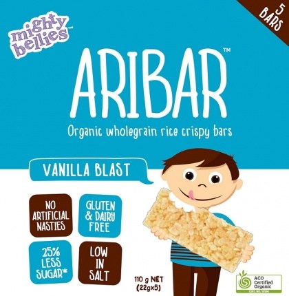 Mighty Bellies Vanilla Blast Aribar  (5x22g) 110g Pack