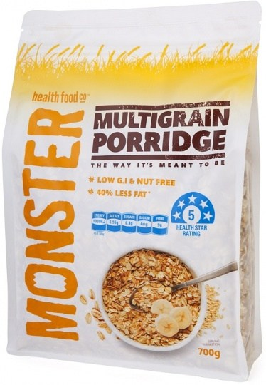 Monster Health Food Co Multi Grain Porridge 700g