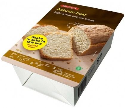 Mrs Brunt's Shake 'n Bake Autumn Loaf Light Wheat & Rye Bread 400g