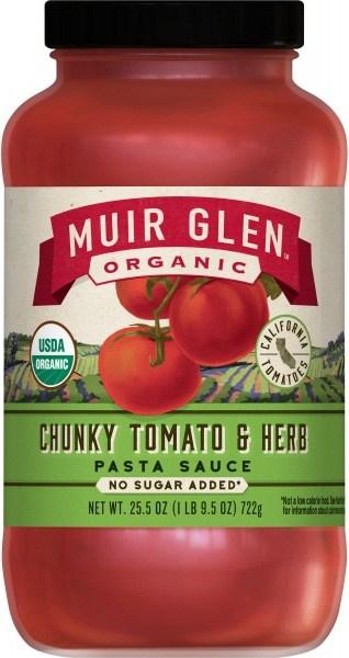 Muir Glen Pasta Sauce Tomato&Herb Chunky Org723g