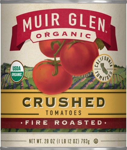 Muir Glen Tomatoes Fire Roasted Crushed  794gm