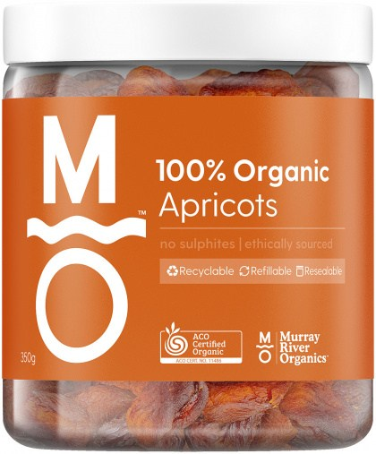 Murray River Organics Apricots  350g Jar