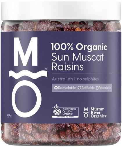 Murray River Organics Organic Australian Sun Muscat Raisins  325g Jar JUN22