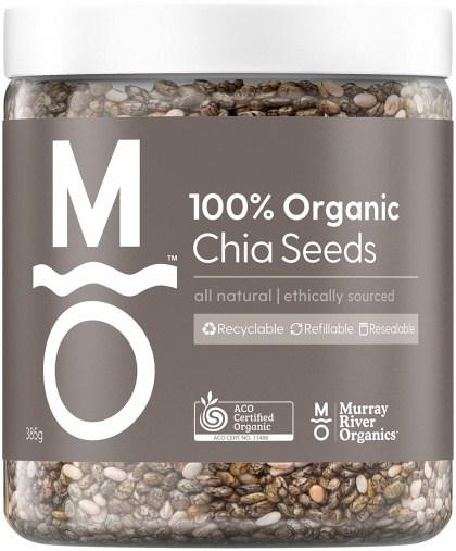 Murray River Organics Organic Chia Seeds  385g Jar