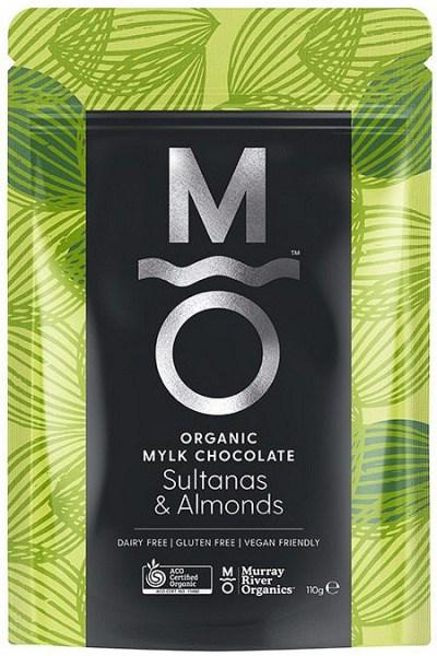 Murray River Organics Organic Chocolate Almonds & Sultanas  110g Pouch FEB22
