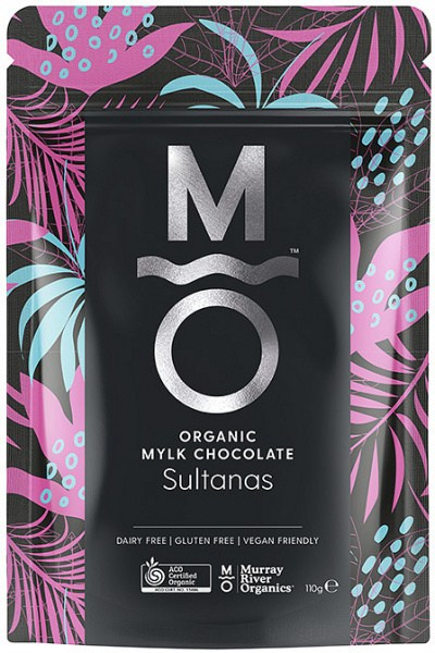 Murray River Organics Organic Chocolate Australian Sultanas  110g Pouch FEB22