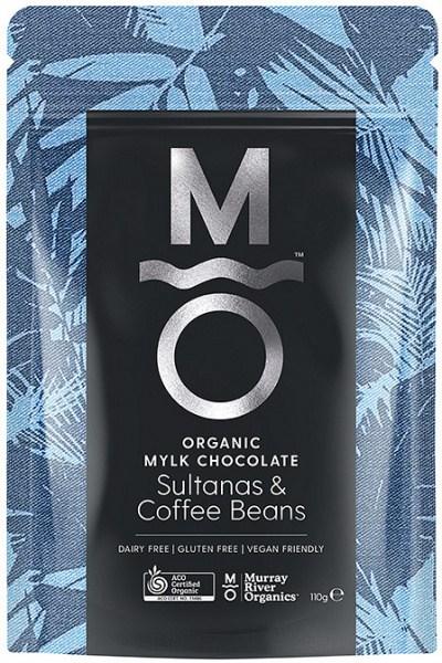 Murray River Organics Organic Chocolate Coffee Bean & Sultanas  110g Pouch FEB22