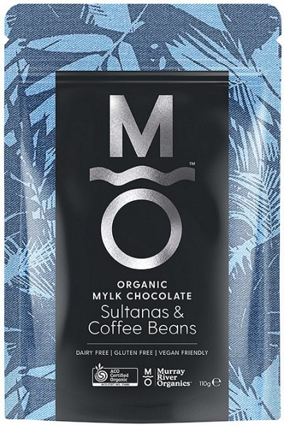 Murray River Organics Organic Chocolate Coffee Bean & Sultanas  110g Pouch
