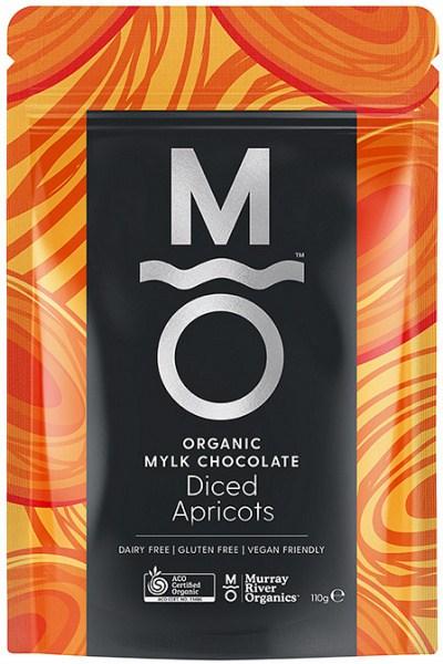 Murray River Organics Organic Chocolate Diced Apricots  110g Pouch