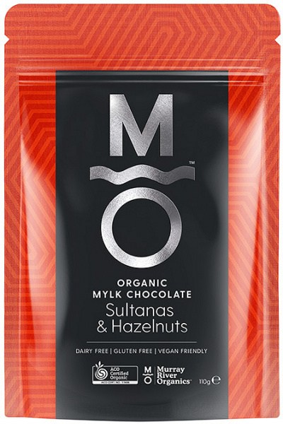 Murray River Organics Organic Chocolate Hazelnuts & Sultanas  110g Pouch FEB22