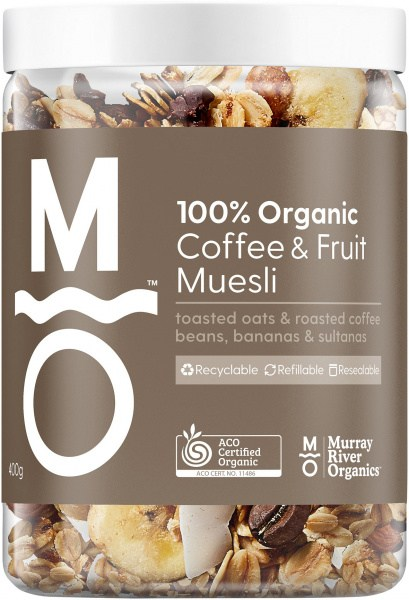 Murray River Organics Organic Coffee Fruit Muesli 400g Jar