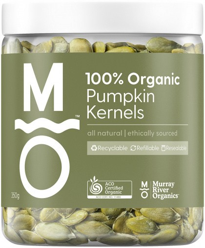 Murray River Organics Organic Pumpkin Kernels  350g Jar