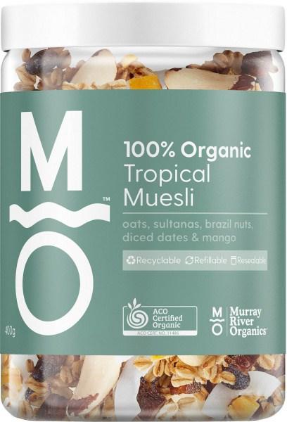 Murray River Organics Organic Tropical Muesli 400g Jar