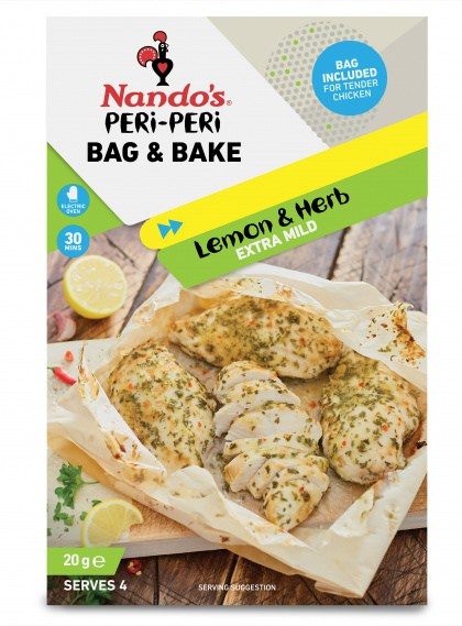 Nandos PERi PERi Bag & Bake Lemon & Herb (Serves 4) 20g