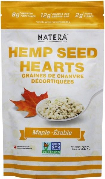 Natera Hemp Seed Hearts Maple 227g
