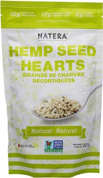 Natera Hemp Seed Hearts Natural 227g