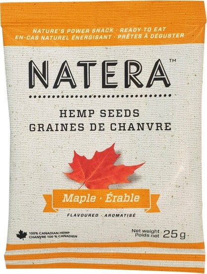 Natera Hemp Seed Sachet Maple 12x25g