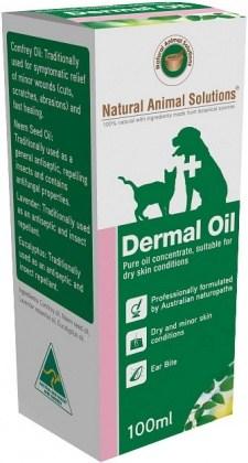 Natural Animal Solutions Dermal Oil 100ml APR21