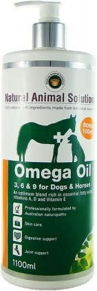 Natural Animal Solutions Omega Oil Dogs/Horse 1.1L MAR22