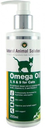 Natural Animal Solutions OmegaOil 3,6&9 Cats 200ml JUL21