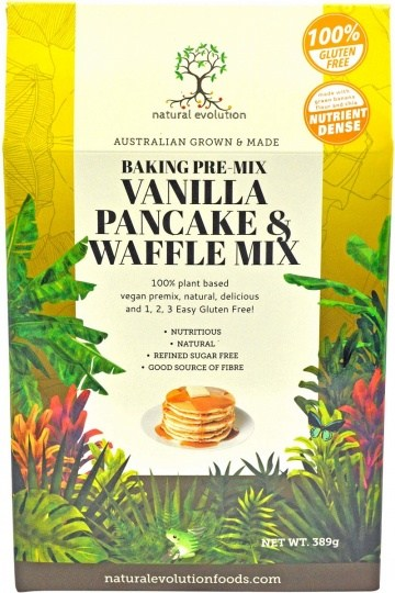 Natural Evolution Bakine Pre-Mix Vanilla Pancake & Waffle Mix 385g