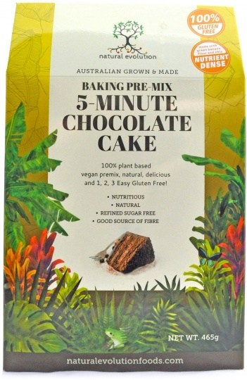 Natural Evolution Baking Pre-Mix 5-Minute Chocolate Cake  465g
