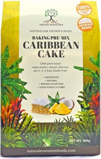 Natural Evolution Baking Pre-Mix Caribbean Cake 486g DEC21