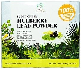 Natural Evolution Super Green Mulberry Leaf Powder  (30x2g sachets) 60g