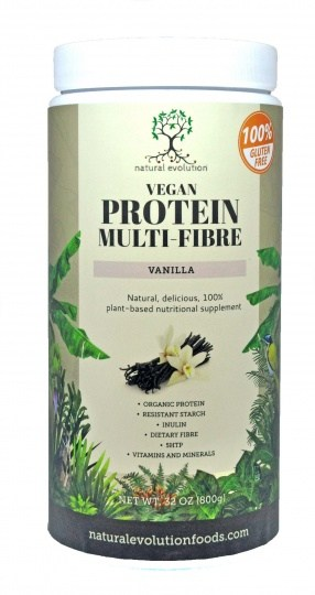 Natural Evolution Vegan Protein Multifibre Vanilla  800g