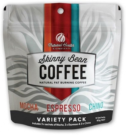 Natural Health Co Skinny Bean Coffee Variety Pack (3xMocha, 3xEspresso, 3xChino) 83g