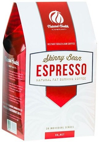 Natural Health Co Skinny Bean Espresso Natural Fat Burning Coffee (28Sachets) 98g