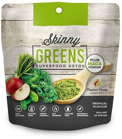 Natural Health Co Skinny Greens Superfood Detox + Maca Powder  160g