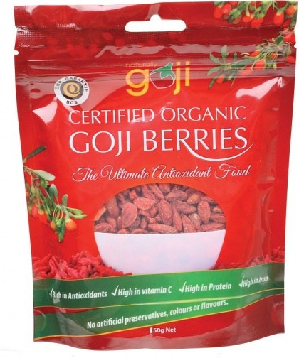 Naturally Goji Organic Tibetan Goji Berries 150g Bag