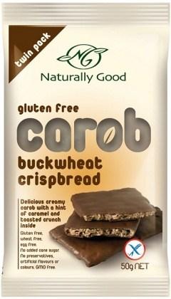 Naturally Good Buckwheat Carob Crispbreads GW/F 12x50g