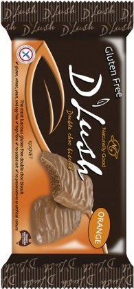 Naturally Good D'Lush Dble Choc Orange Bisc 150g
