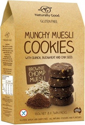 Naturally Good Munchy Muesli Cookie Brownie 160g