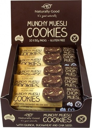 Naturally Good Munchy Muesli Cookie Brownie  20x30g