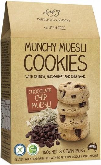 Naturally Good Munchy Muesli Cookie Chocolate Chip  160g