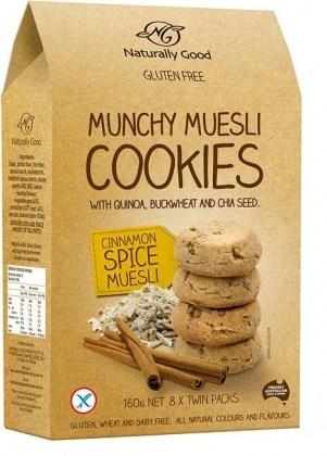 Naturally Good Munchy Muesli Cookie Cinnamon 160g